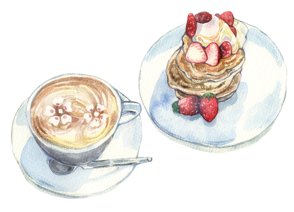 20180217 Cherry Blossome Coffee and Cake